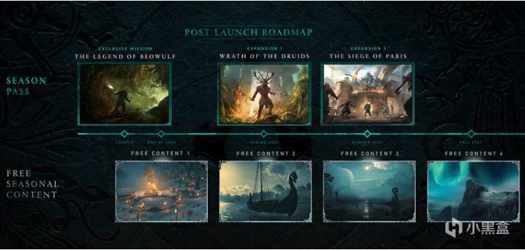 《刺客信条:英灵殿》更新路线图公布:两个DLC,四个免费季节内容