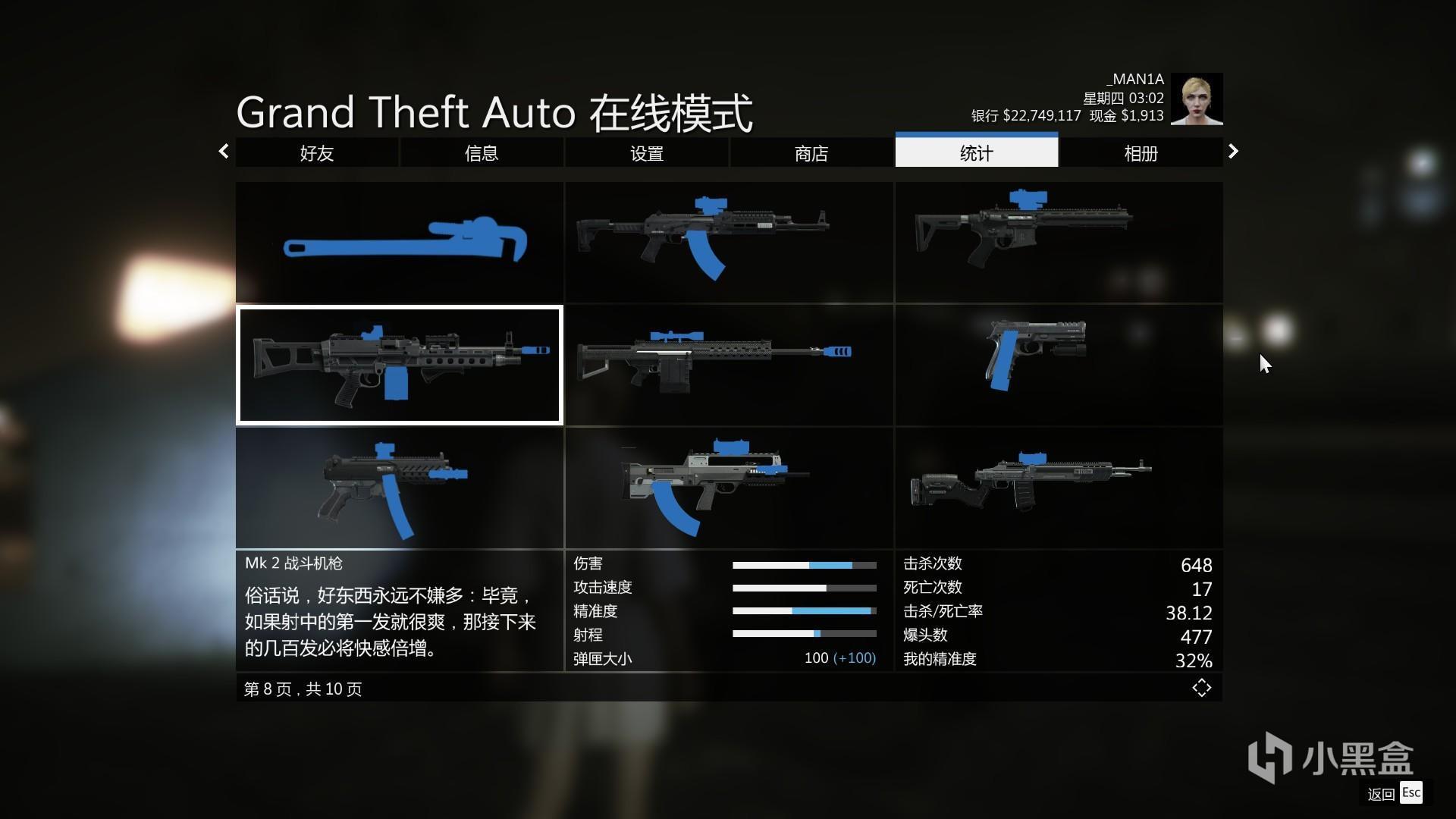 gta5 线上模式各阶段武器推荐(后期)