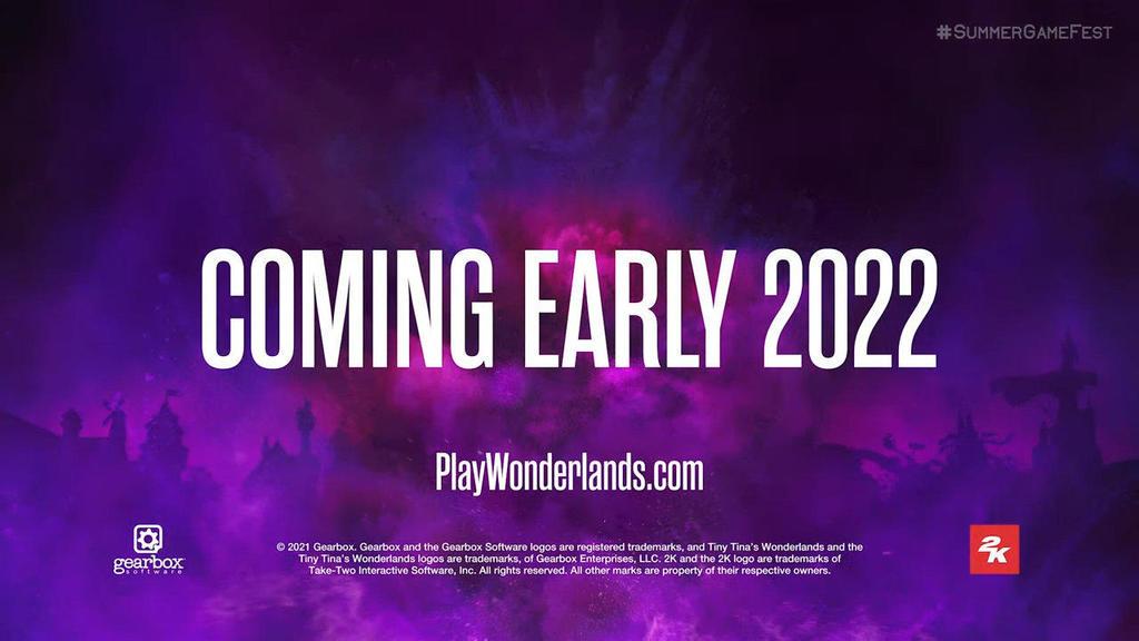 E3 2021:Gearbox新作《小小蒂娜的奇幻仙境》