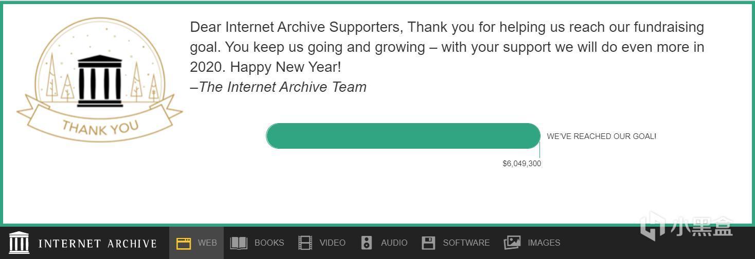 作为非盈利组织,Internet Archive 成功完成了2019年度的众筹计划。